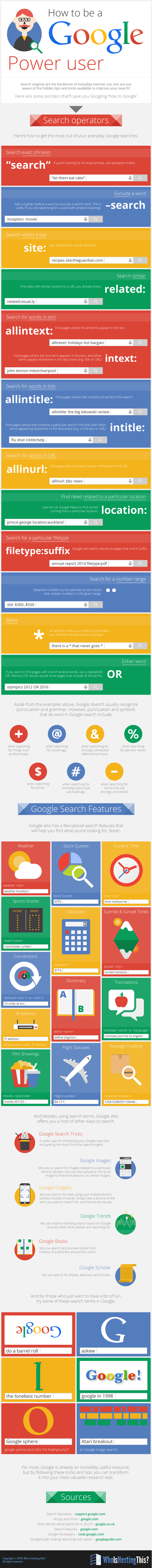How to be a Google Power User